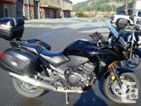 2011 Honda CBF 1000A with three bag set Every great