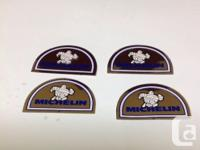 Vintage Michelin Man Chrome Stickers - Set of 4.This