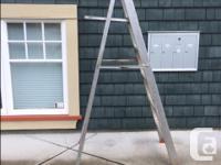 6' Aluminum Step Ladder, Garage Push Broom, Adjustable