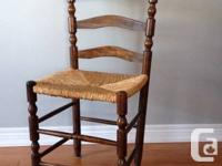 A matching set of 6 antique ladderback Mennonite chairs