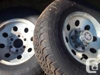 GMC/ Chevy 6 bolt 4x4 rims and tires.tons of tread on