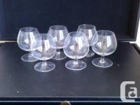 6 Brandy Snifters - $10   List of All Items Being Sold: