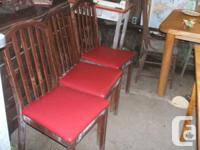 Pics  show 3 of 6 chairs with leather seats with a