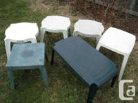 . 6 Outdoor patio little tables. they are much made use