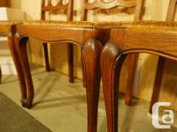 6 Oak Dining Chairs all refinished and in very nice