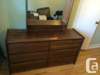 -Nice 6 Drawer wood Dresser with Mirror -Large drawers