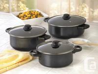 "6-Piece Nonstick Pots and pans Collection ""NEW""."