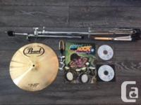 I�m selling my 5 piece Pearl Forum drumset with an