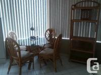 Rattan kitchen set with cabinet for sale.  In great