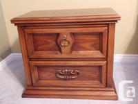Solid oak bedroom set for sale. Includes dresser,