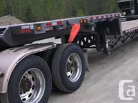 2014 MANAC Quad Axle Step Deck, 3000 mis, Tri drive