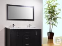 "60 "" Double Sink Vanity Sale Includes Mirror, Quartz"