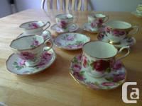 I am marketing 6 cups and 7 saucers in superb health