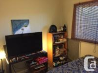 Good sized furnished room with king size bed for rent