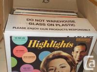 Approximately 600 records  --no jazz, no children's, no