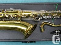 KING 615 VINTAGE TENOR SAXOPHONE WITH CASE ...$369.