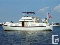 1985 50' x 15' x 3.5' Schucker Fiberglass Trawler/Sail