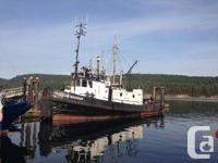 Ocean Warrior 62' Steel Tug Powered by a 800 HP CAT,