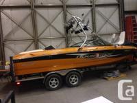 2007 Elite liquid ride tournament wake board boat.(VERY
