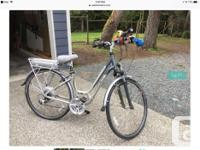 "2009 16"" Ladies Trek electric assist bike, model 7200+."