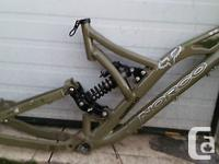 This is for a Norco Shore Bike Frame and some parts.