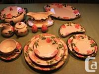 This auction is for a 69 pc. set of Desert Rose