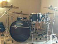 Used, in great condition. Tama Imperialstar black w/