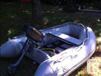 * Hard bottom inflatable boat * Only couple years_like