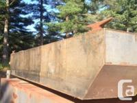 201218' x 8' x 2.5' Stainless Steel Barge Raked at
