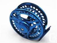 7/8 Large Arbor Fly Fishing Reel Anodized Blue Color