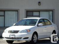 2006 TOYOTA COROLLA LE,AUTOMATIC,WHITE ON TAN