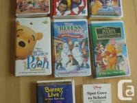 7 Kids VHS Movies - They All job Flawlessly! Offering