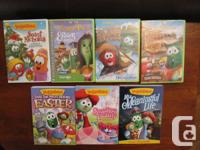 Seven Veggie Tales Dvd's. These are the Dvd's you will