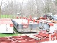 ~~1980's 60' x 30' x 4.5' Steel Deck Barge (3 sections