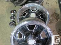 """I have available a set of 4 14"""" Olds ralley wheels."""