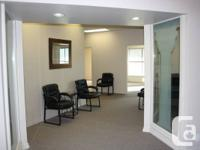 We presently have 3 offices offered for rent and are