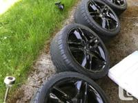 Set of 4 wheels, were strictly only used in summer