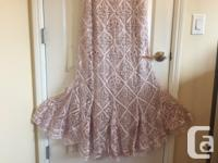 $700 timeless dress, hand-crafted, pearl-pink,