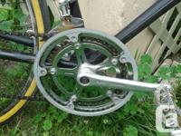 It runs well,, It is in good working order. Front wheel