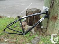 """19"""" alloy bike frame from Evo. New, but has a rub mark"""