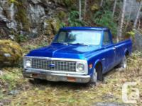 1972 pickup 2 wheel drive parts only no paper or