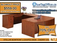 """DEAL OF THE MONTH - 72"""" Stellar Bowfront U-Shaped Desk"""