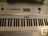 Quality Yamaha 72 key portable grand piano keyboard. It
