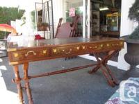 """Estate sale desk....unique.vintage mahogany ....72"""" X"""