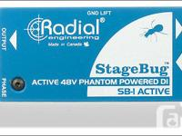 Radial SB-1 Stage Bug Active DI Box for Acoustic Guitar