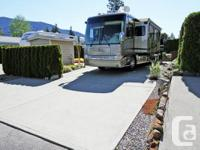 Large Recreational Vehicle site has a concrete patio