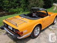 Beautuful and rare, 1975 Triumph TR6 in stunning Topaz,