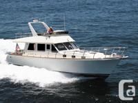 The Alaska 48 is a fast trawler design with excellent