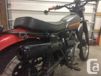 Make Honda Year 1978 kms 16000 as is, needs some TLC,