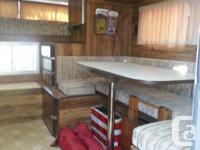 This is a 8.5 foot nice old camper .Has some dents and